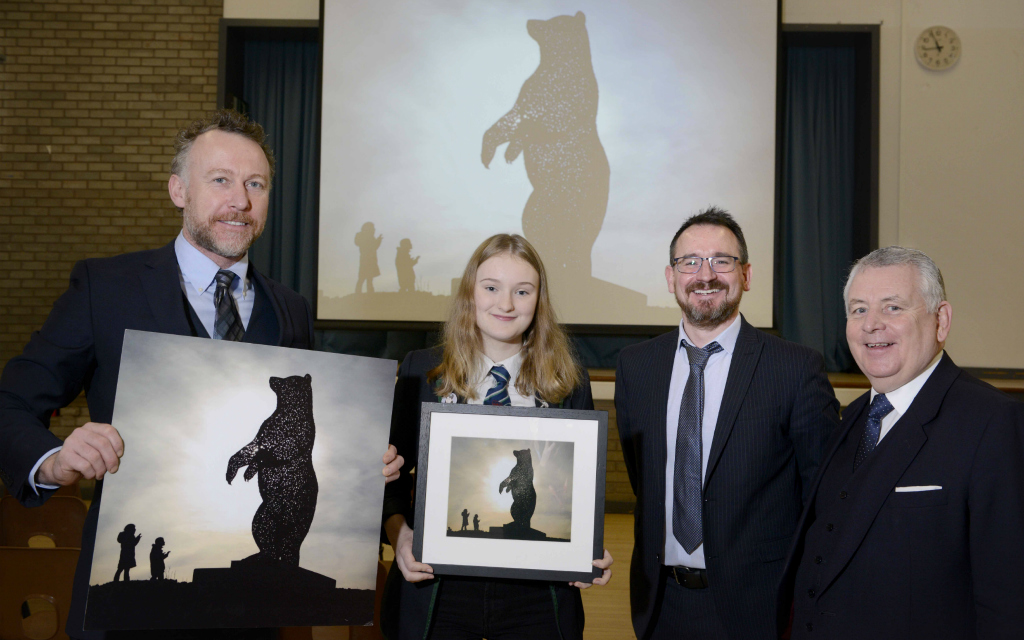 School pupil gives name to Dunbar bear sculpture following competition